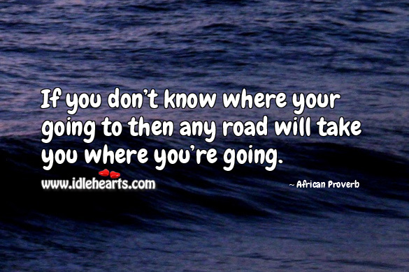 Image, If you don't know where your going to then any road will take you where you're going.
