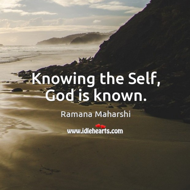 Knowing the Self, God is known. Image