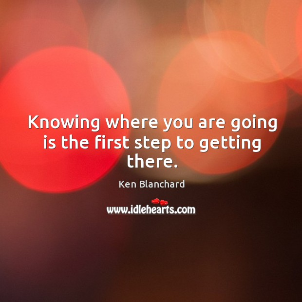 Knowing where you are going is the first step to getting there. Image