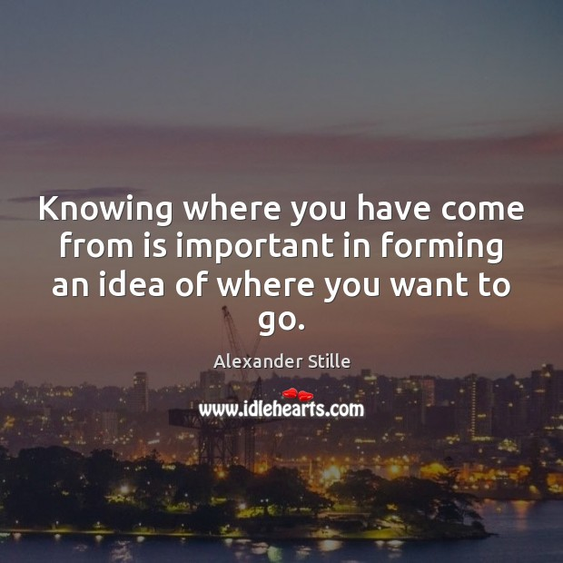 Knowing where you have come from is important in forming an idea of where you want to go. Image