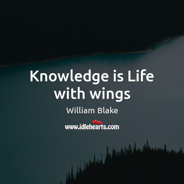 Knowledge is Life with wings Image