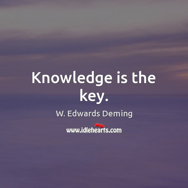 Knowledge is the key. Image