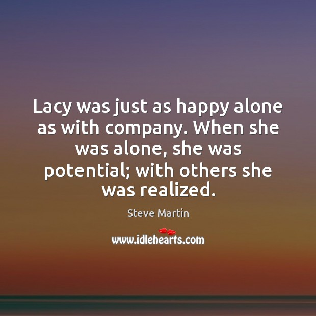 Lacy was just as happy alone as with company. When she was Image