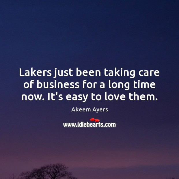 Lakers just been taking care of business for a long time now. It's easy to love them. Image