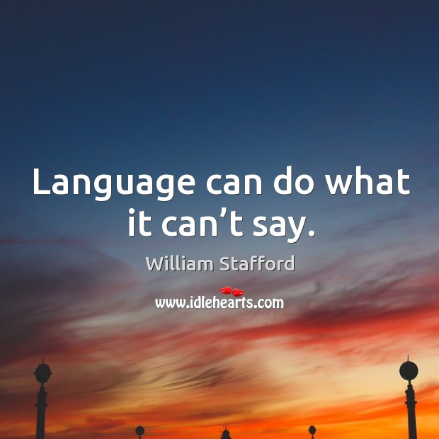 Image, Language can do what it can't say.