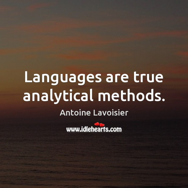 Image, Languages are true analytical methods.