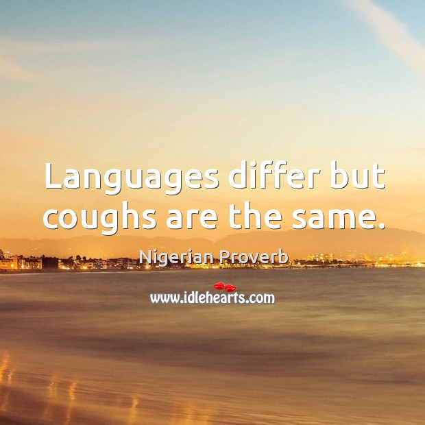Languages differ but coughs are the same. Image