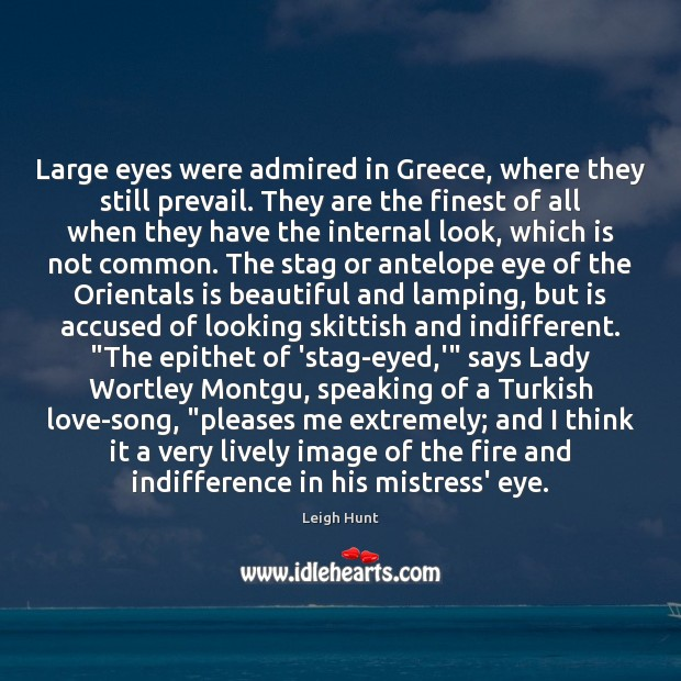 Image, Large eyes were admired in Greece, where they still prevail. They are