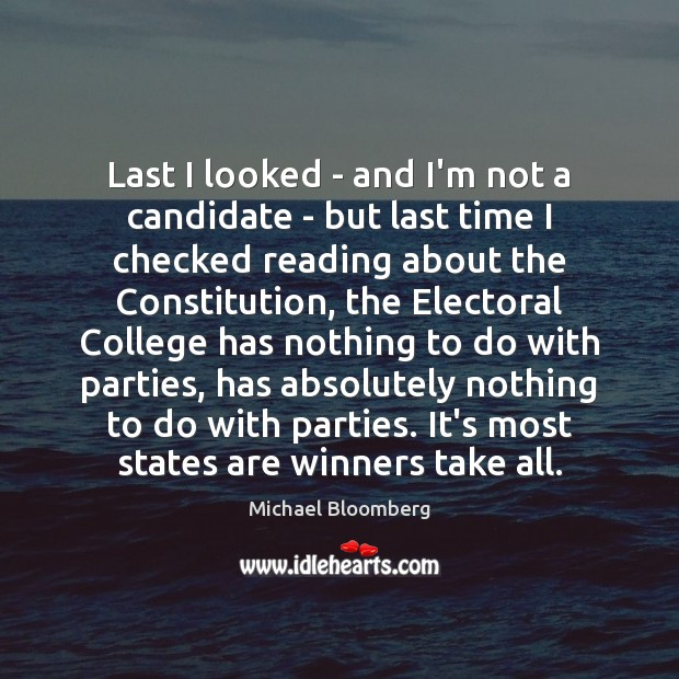 Image, Last I looked – and I'm not a candidate – but last