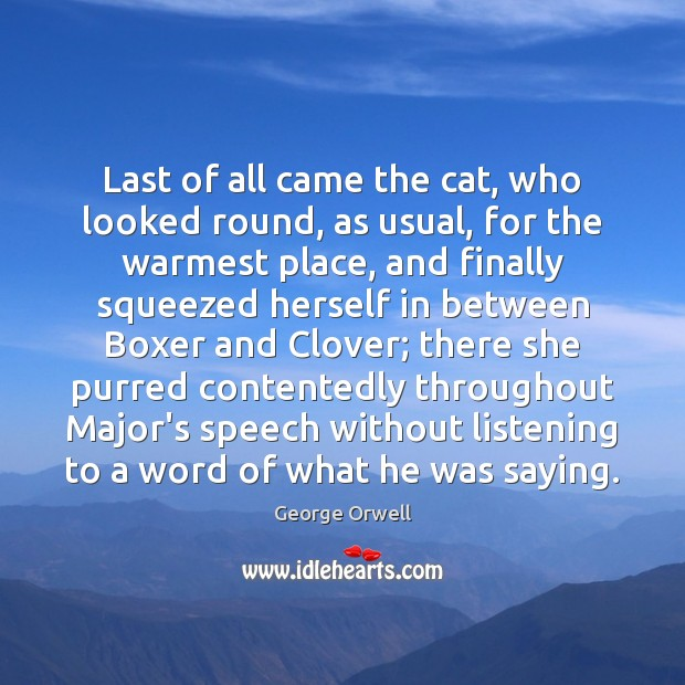 Image, Last of all came the cat, who looked round, as usual, for