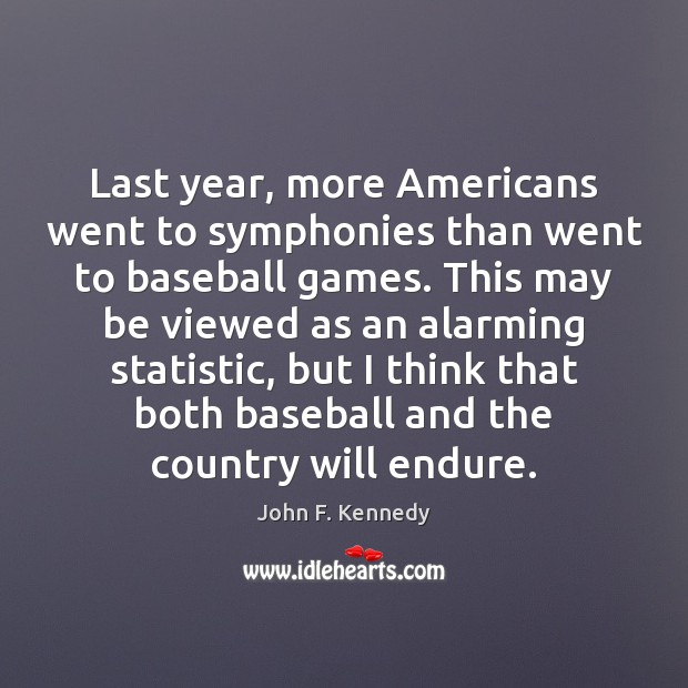Last year, more Americans went to symphonies than went to baseball games. Image