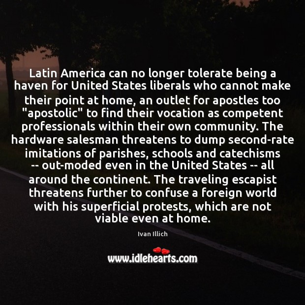 Latin America can no longer tolerate being a haven for United States Image