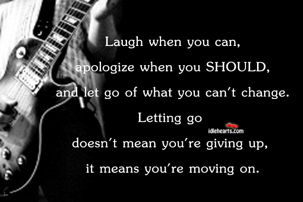 Laugh when you can, apologize when you should Image