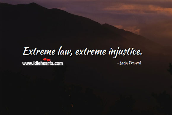 Image, Extreme law, extreme injustice.