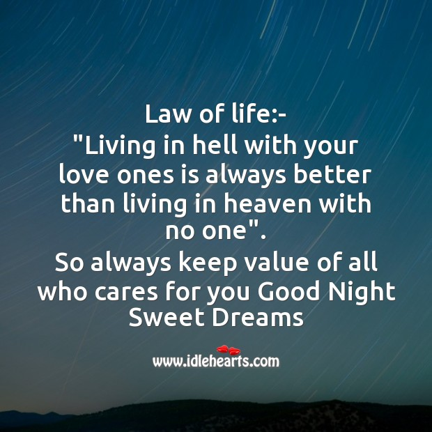 Image, Law of life