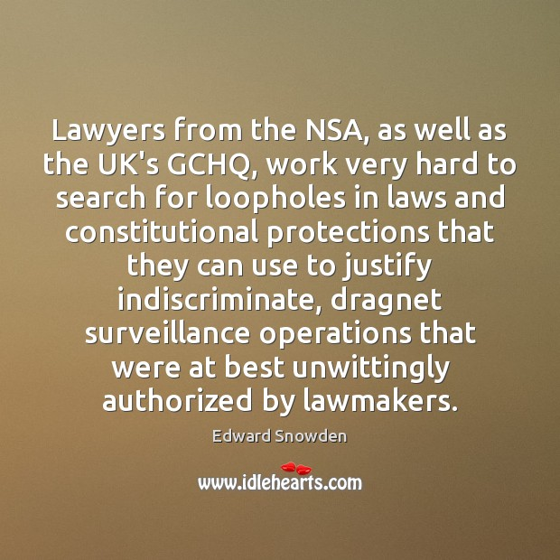 Lawyers from the NSA, as well as the UK's GCHQ, work very Image