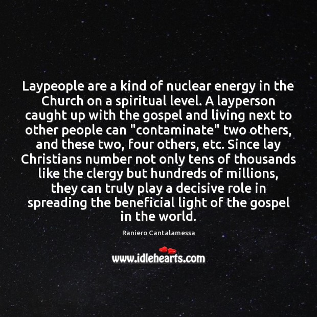 Laypeople are a kind of nuclear energy in the Church on a Image