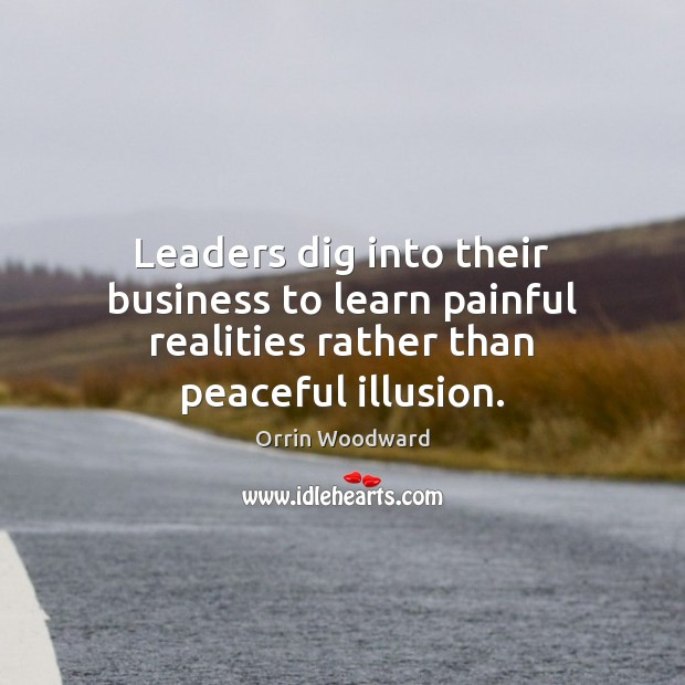 Image, Leaders dig into their business to learn painful realities rather than peaceful illusion.