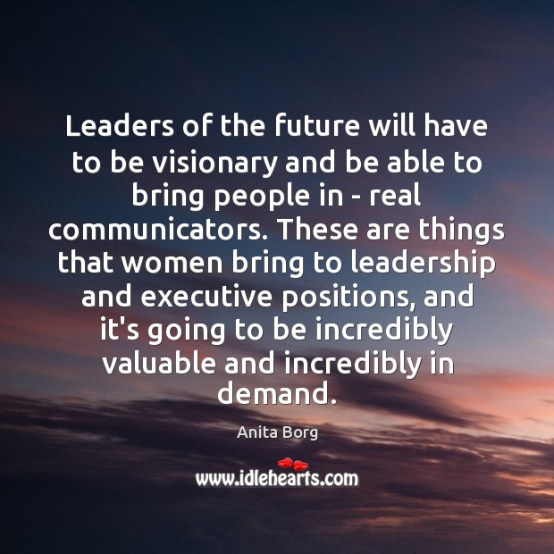 Image, Leaders of the future will have to be visionary and be able