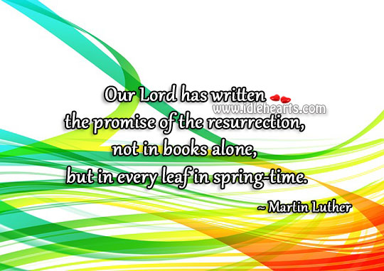 Promise Of The Resurrection