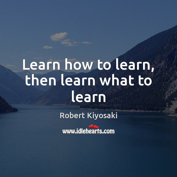 Learn how to learn, then learn what to learn Image