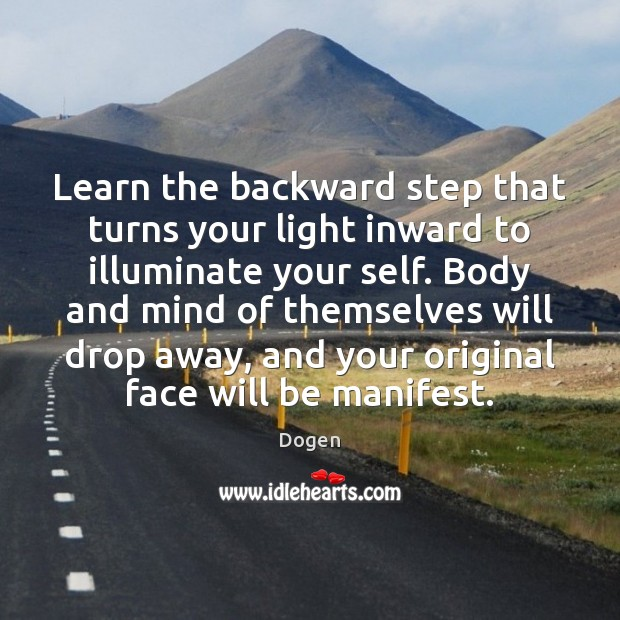 Learn the backward step that turns your light inward to illuminate your Image