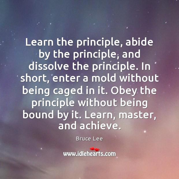 Learn the principle, abide by the principle, and dissolve the principle. In Image