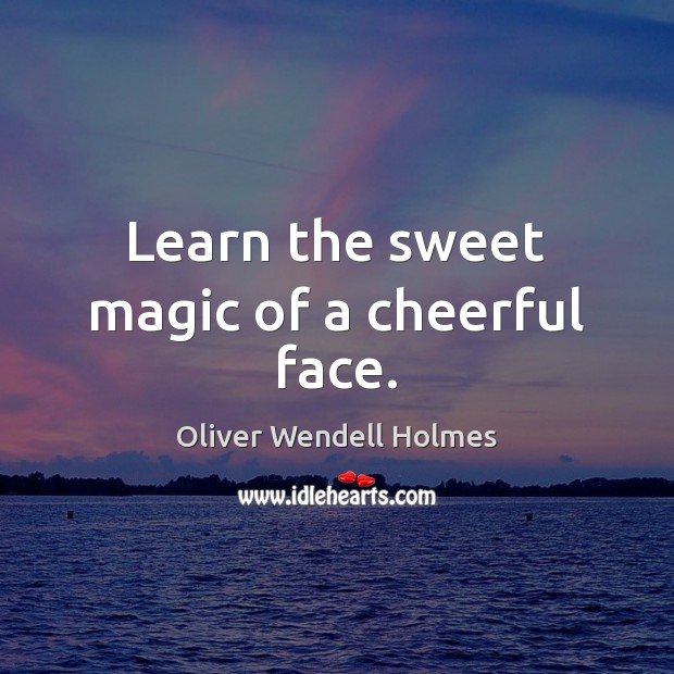 Image, Learn the sweet magic of a cheerful face.