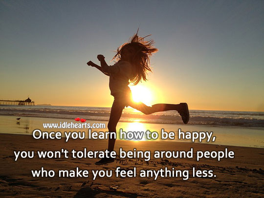 Learn to be happy Image