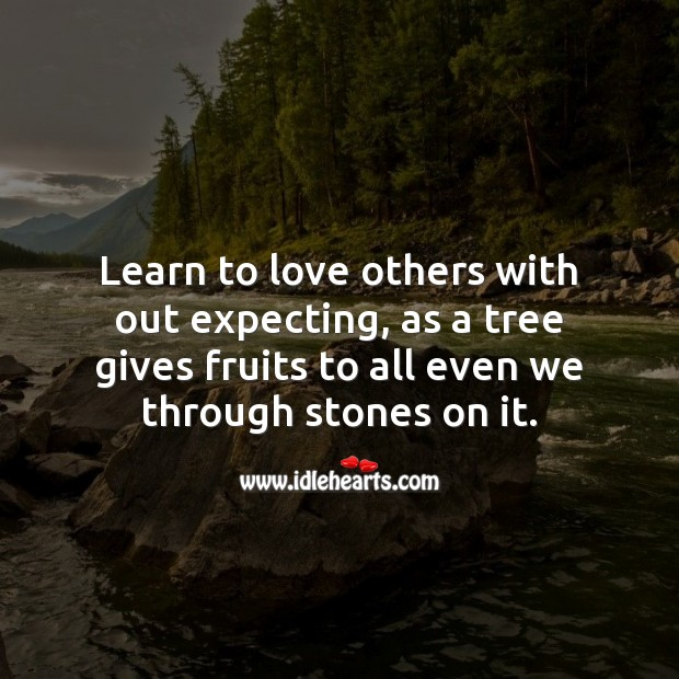 Image, Learn to love others with out expecting