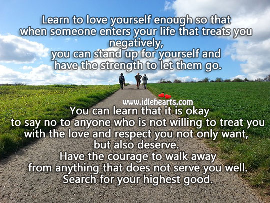 Image, Learn to love yourself enough