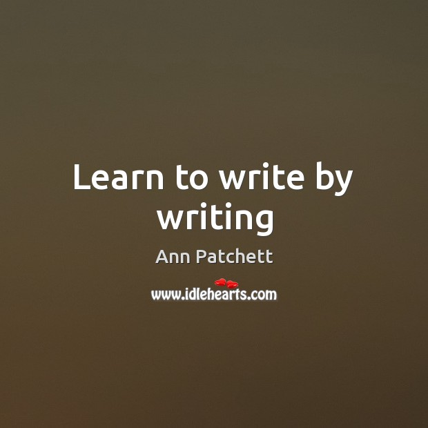 Image, Learn to write by writing
