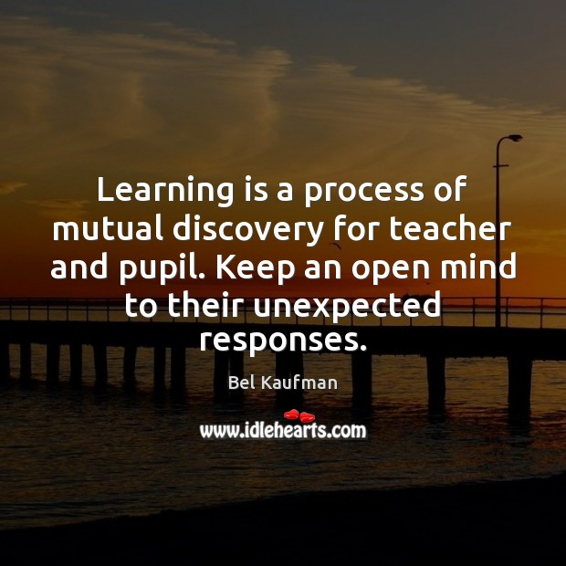 Image, Learning is a process of mutual discovery for teacher and pupil. Keep