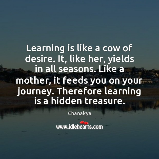 Image, Learning is like a cow of desire. It, like her, yields in