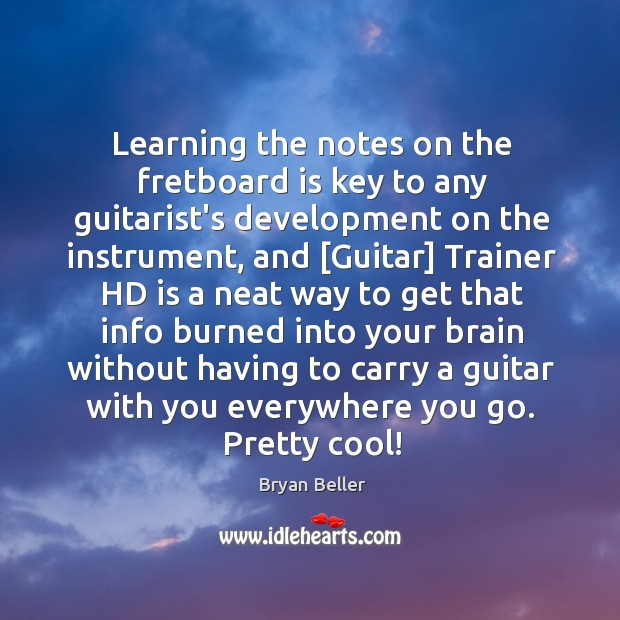 Learning the notes on the fretboard is key to any guitarist's development Image