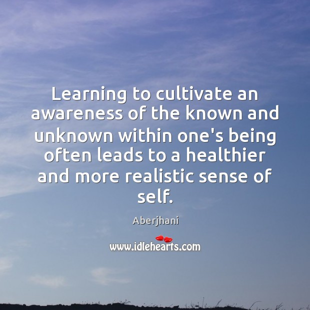 Image, Learning to cultivate an awareness of the known and unknown within one's