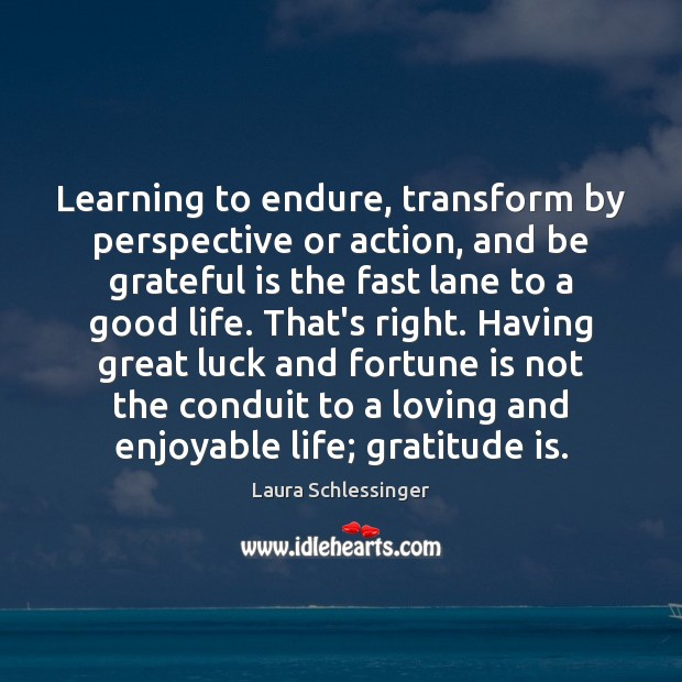 Learning to endure, transform by perspective or action, and be grateful is Gratitude Quotes Image