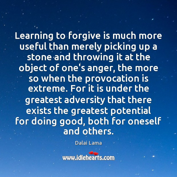 Learning to forgive is much more useful than merely picking up a Image
