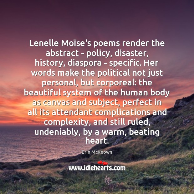 Lenelle Moïse's poems render the abstract – policy, disaster, history, diaspora Image