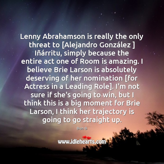 Image, Lenny Abrahamson is really the only threat to [Alejandro González ] Iñá