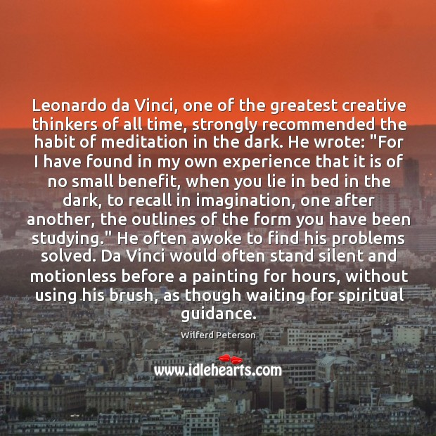 Image, Leonardo da Vinci, one of the greatest creative thinkers of all time,