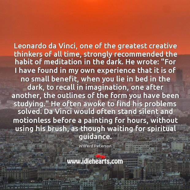 Leonardo da Vinci, one of the greatest creative thinkers of all time, Image