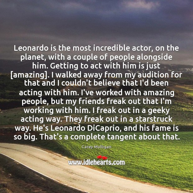 Image, Leonardo is the most incredible actor, on the planet, with a couple