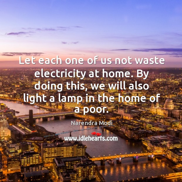 Image, Let each one of us not waste electricity at home. By doing