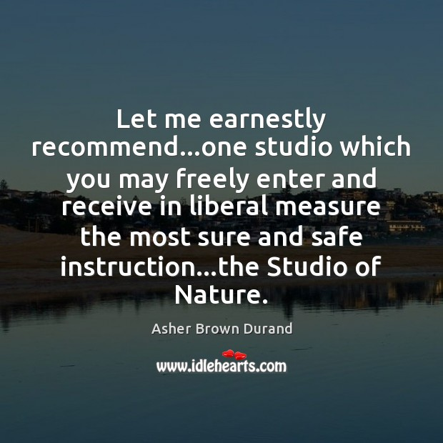 Image, Let me earnestly recommend…one studio which you may freely enter and