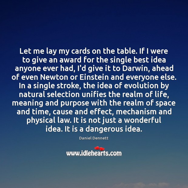 Image, Let me lay my cards on the table. If I were to