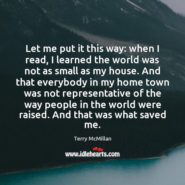 Let me put it this way: when I read, I learned the Image
