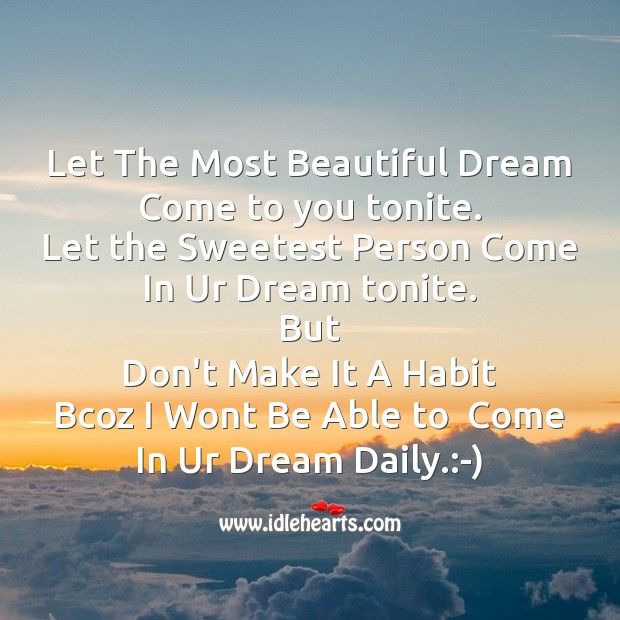 Let the most beautiful dream Good Night Messages Image