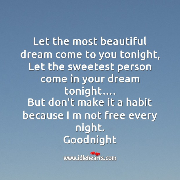 Let the most beautiful Good Night Messages Image