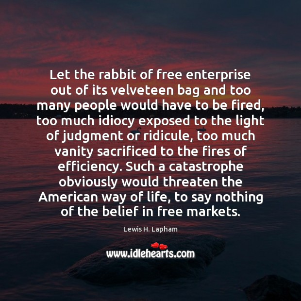 Image, Let the rabbit of free enterprise out of its velveteen bag and